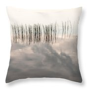 Serenity Dwells Here Where Tranquil Water Flow Cloaked  In Hues Of Love Throw Pillow by Jenny Rainbow