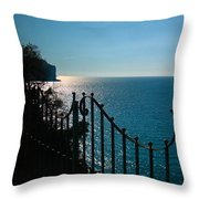 Serenity In The Bay Of Naples Throw Pillow