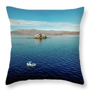 Serenity In The Sea Of Cortez  Throw Pillow