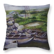 Serenity Of Waterside Throw Pillow