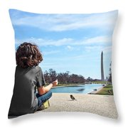 Serenity On The National Mall Throw Pillow