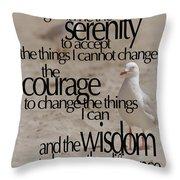 Serenity Prayer 01 Throw Pillow