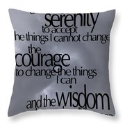 Serenity Prayer 05 Throw Pillow