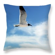 Serenity Seagull Throw Pillow