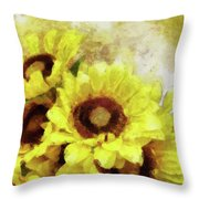 Serenity Sunflowers Throw Pillow