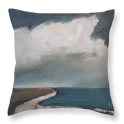 Serenity Under Clouds Throw Pillow