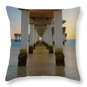 Serenity Under The Pier Throw Pillow