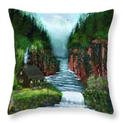 Serenity Valley Throw Pillow