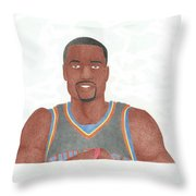 Serge Ibaka Throw Pillow by Toni Jaso