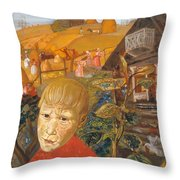 Sergei Esenin 1895-1925 As A Youth, Boris Grigoriev Throw Pillow