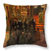 Sergey Dmitrievich Miloradovich Russian 1851-1943 Uspenskiy Cathedral, 1917 Throw Pillow