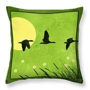 Series Four Seasons 1 Spring Throw Pillow