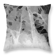 Series Of Black And White 44 Throw Pillow