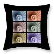 Series Of Sea Shells Throw Pillow