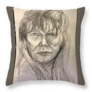 Serif Sketch Throw Pillow