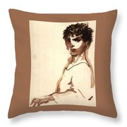 Serious Man Throw Pillow