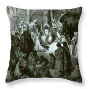 Sermon On The Mount Throw Pillow