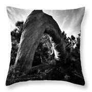 Serpant Tree Throw Pillow