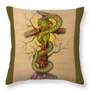 Serpent's Law Throw Pillow