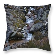 Serra Da Estrela Mountains And Waterfall Throw Pillow