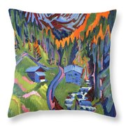 Sertig Path In Summer Throw Pillow