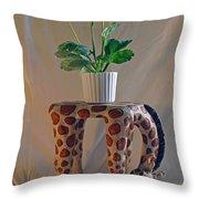 Servant Giraffe Throw Pillow
