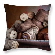 Served - Wine Taps And Corks Throw Pillow