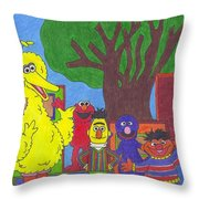 Children's Characters Throw Pillow