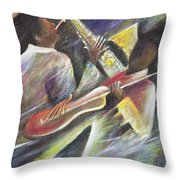 Session Throw Pillow by Ikahl Beckford