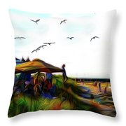 Sesuit Tetraptych 2 Throw Pillow