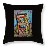 Set With Caution Throw Pillow