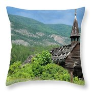 Seton Portage Church 2 Throw Pillow