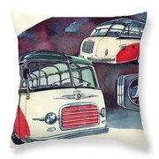 Setra Bus Kassbohrer S11 Throw Pillow