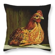 Setting Hen Throw Pillow