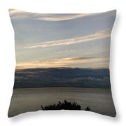 Setting Off Throw Pillow