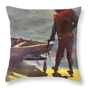 Setting Out Throw Pillow