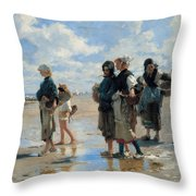 Setting Out To Fish Throw Pillow