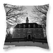 Setting Sun At The Capitol Throw Pillow