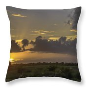 Setting Sun Before The Storm Throw Pillow