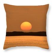 Setting Sun On Coastal Florida Throw Pillow