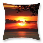 Setting Sun On The Bay Of Fundy Throw Pillow
