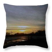 Kankakee Sunset  Throw Pillow