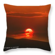 Setting Sun Over The Wenas Valley  Throw Pillow