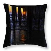 Setting Sun Pismo Beach Throw Pillow