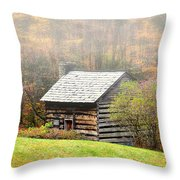 Settle Into The Fog Throw Pillow