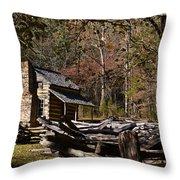 Settlers Cabin Throw Pillow