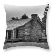 Settlers Cabin Tennessee Throw Pillow