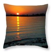 Settling Sun Throw Pillow