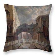 Seufzerbrucke Venice Throw Pillow