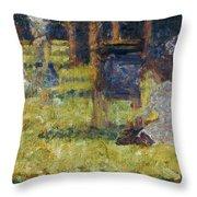 Seurat: Grande Jatte, 1884 Throw Pillow by Granger
